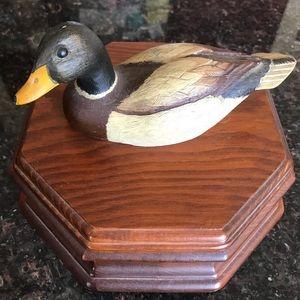 Duck wooden box